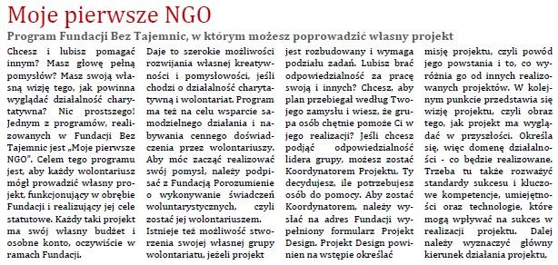 Moje pierwsze NGO1